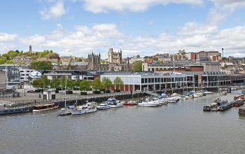 Bristol, Uk - May 11, 2012: Saint Augustines Reach Viewed From T