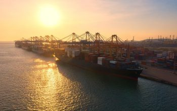 Container , Container Ship In Export And Import Business And Log
